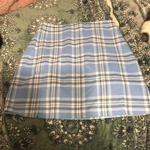 Brandy Melville plaid mini skirt